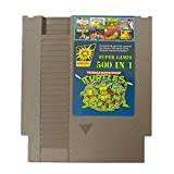 Gyswshh Game Card,Cartridge, English Version 500 in 1 Classic Collection for Nintendo NES Grey