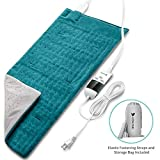 Heating Pad, Hosome Electric Heating Pad for Pain Relief with 8 Temperature Settings, Moist Therapy Heating Pad with 6 time settings for Neck, Shoulder and Back, Fast Heating Pad with Ultra-Soft Flannel