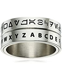 Star Wars Jewelry Aurebesh Stainless Steel Men's Spinner Ring