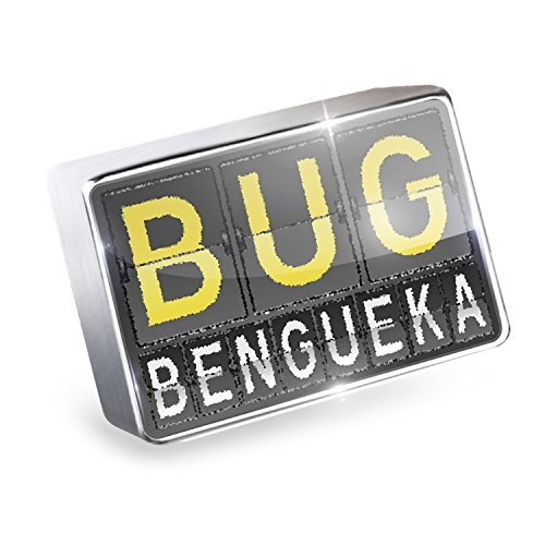 Floating Charm BUG Airport Code for Bengueka Fits Glass Lockets, Neonblond