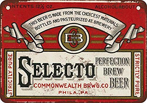 セレクトビール 金属板ブリキ看板注意サイン情報サイン金属安全サイン警告サイン表示パネル