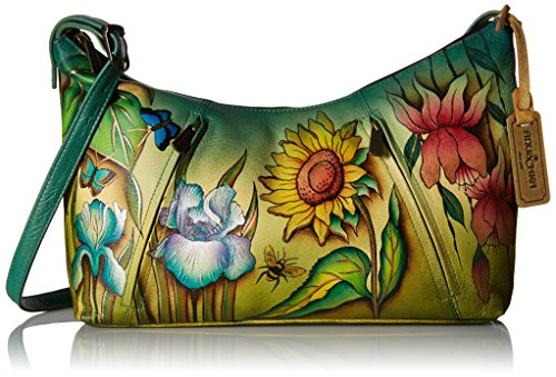 Anuschka Medium Zippered Hobo Fdms, Floral Dreams