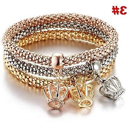5897768355f Amazon.com: Hemau Fashion Women Punk Love Knot Chain Open Cuff ...