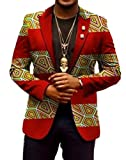 ARTFFEL-Men Casual Blazer Africa Print Lapel Dashiki Suit Jacket Coat Outwear 13 M
