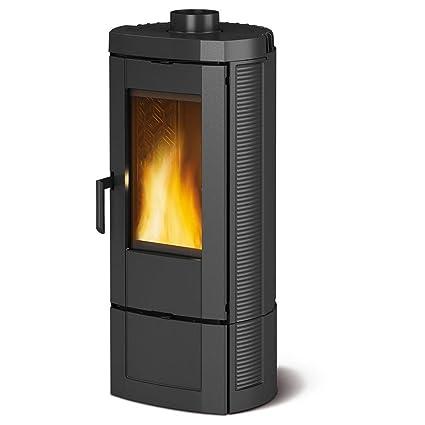 Estufa a leña Nordica Candy revestimiento de fundido Potencia térmica 7.2 kW 206 M3 calefactables –