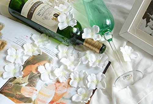 Hydrangea Petals Artificial Silk Pincushion Petal Flower Bridal Shower Favors for Wedding Party Supplies Table Floor Decoration Centerpieces Confetti (170, milk white) from F.L.S