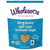 Wholesome Fair Trade Organic Raw Cane Turbinado Sugar, Naturally Flavored Real Sugar, Non GMO & Gluten Free, 1.5 lb (Pack of 1)