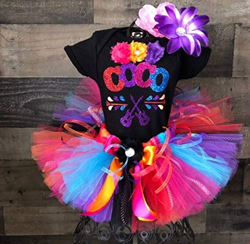 Coco Birthday Tutu Outfit Birthday Dress Up Custom Any Name Any Age added