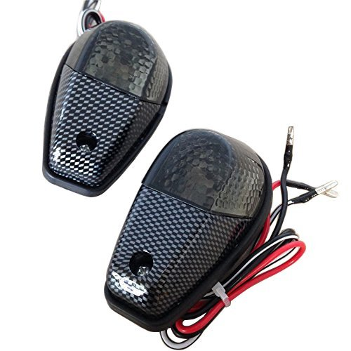 Smoke Flush Mount Motorcycle Turn Signals Blinker Light For Universal Sportbikes