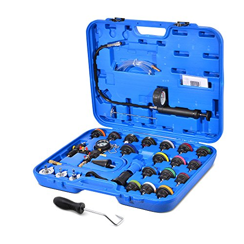 Approved for Automotive 28-piece Radiator Pressure Test Kit + BONUS Hose Removal Tool