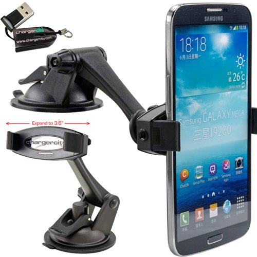 ChargerCity HD-6X Smartphone Holder & Sticky Dashboard Sucti