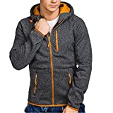 SMALLE ◕‿◕ Clearance,Mens Autumn Winter Casual Zipper Long Sleeve Pullover Sweatshirt Hoodie Coat Top
