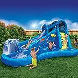Best Outdoor Inflatable Waterslide for Kids | Banzai Surf 'N Splash Water Park