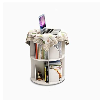 Li Na Home Bookcases Creative Rotating Bookshelf 360 Bookcase Modern Minimalist Book Racks Childrens Fairy