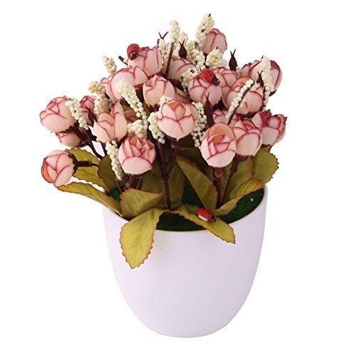 eDealMax Oficina de Hogares plástico maceta Craft Table Flor de escritorio Artificial Decoración