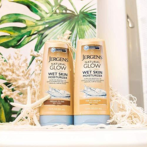 Jergens Natural Glow In-shower Moisturizer, Self Tanner, Fair to Medium Skin Tone Sunless Tanning, 7.5 Ounce Wet Skin… 4