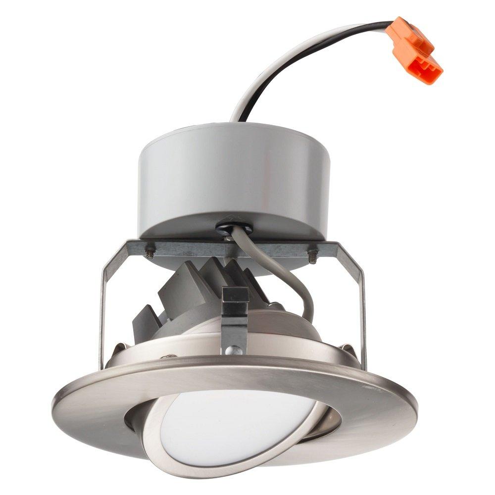 Lithonia Lighting 4 Inch LED Gimbal, Brushed Nickel, Lower Lumen