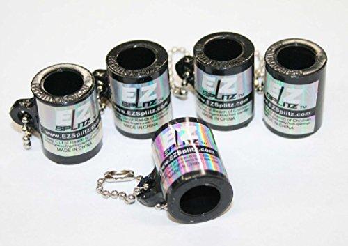 EZ SPLITZ Keychain Blunt Cutter & Blunt Splitter 5 Piece Set ~ Packaged by SIR GARA (BLACK) by SIR GARA