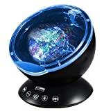 [Newest Design] Remote Control Ocean Wave Projector 12 LED &7 Colors Night Light