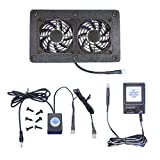 AV Cabinet 12-volt trigger-controlled cooling fan system, with multispeed control