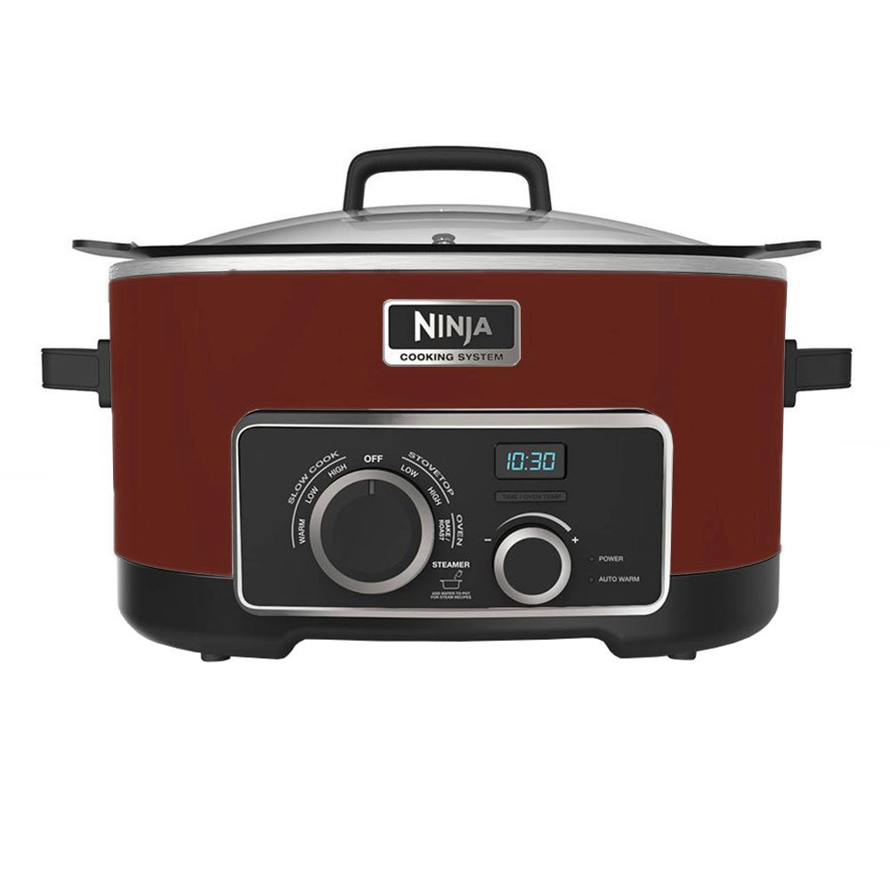 Amazon.com: NINJA 4-in-1 Cooking System, Cinnamon/Red, 6 Qt ...