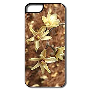 IPhone 5 5S Cases, Magnolia Flowers White/black Covers For IPhone 5/5S