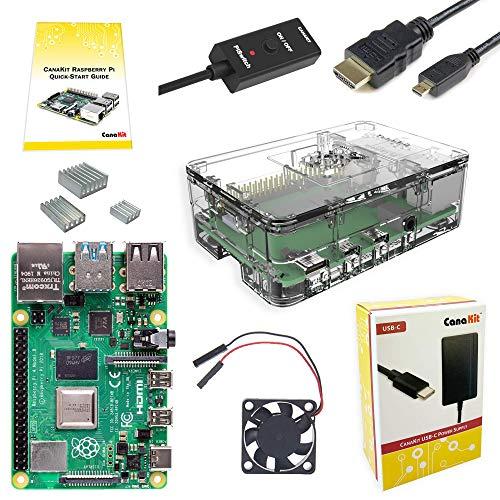 2. CanaKit Raspberry Pi 4 4GB Basic Starter Kit with Fan (4GB RAM)