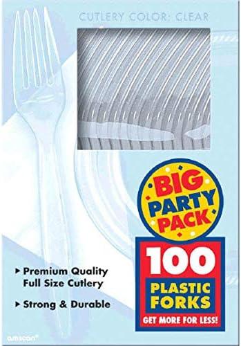 パーティーパック プラスチックフォーク クリア パーティー用品 600本