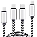 USB Type C Cable,[3+6×2+10 Ft 4Pack]by Ailun,High Speed Type-C to USB A Sync & Charging Nylon Braided Cable for Galaxy S9/S9+ & More Smartphone&Tablets [Silver&blackwhite]