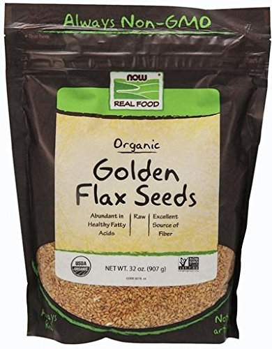 NOW Foods Organic Golden Flax Seeds - 2 lb