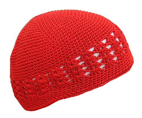 Hiphopville Solid Red Crochet Knit Beanie Skull