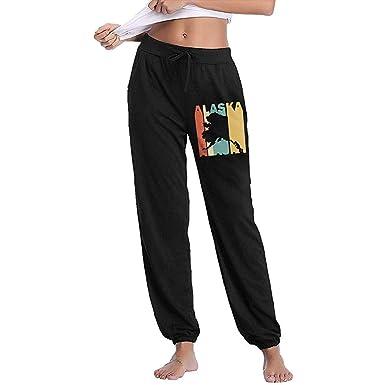 Bu-BY Pantalones de chándal de Silueta Retro de Alaska para Mujer ...