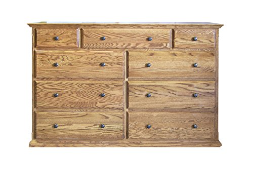 Forest Designs Traditional Twelve Drawer Tall Dresser: 60W x 40H x 18D 60w x 40h x 18d Whitewash Oak