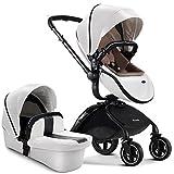 Mommy-4-Life Luxury 2 in 1/3 in 1 Stroller (2 in 1 White)