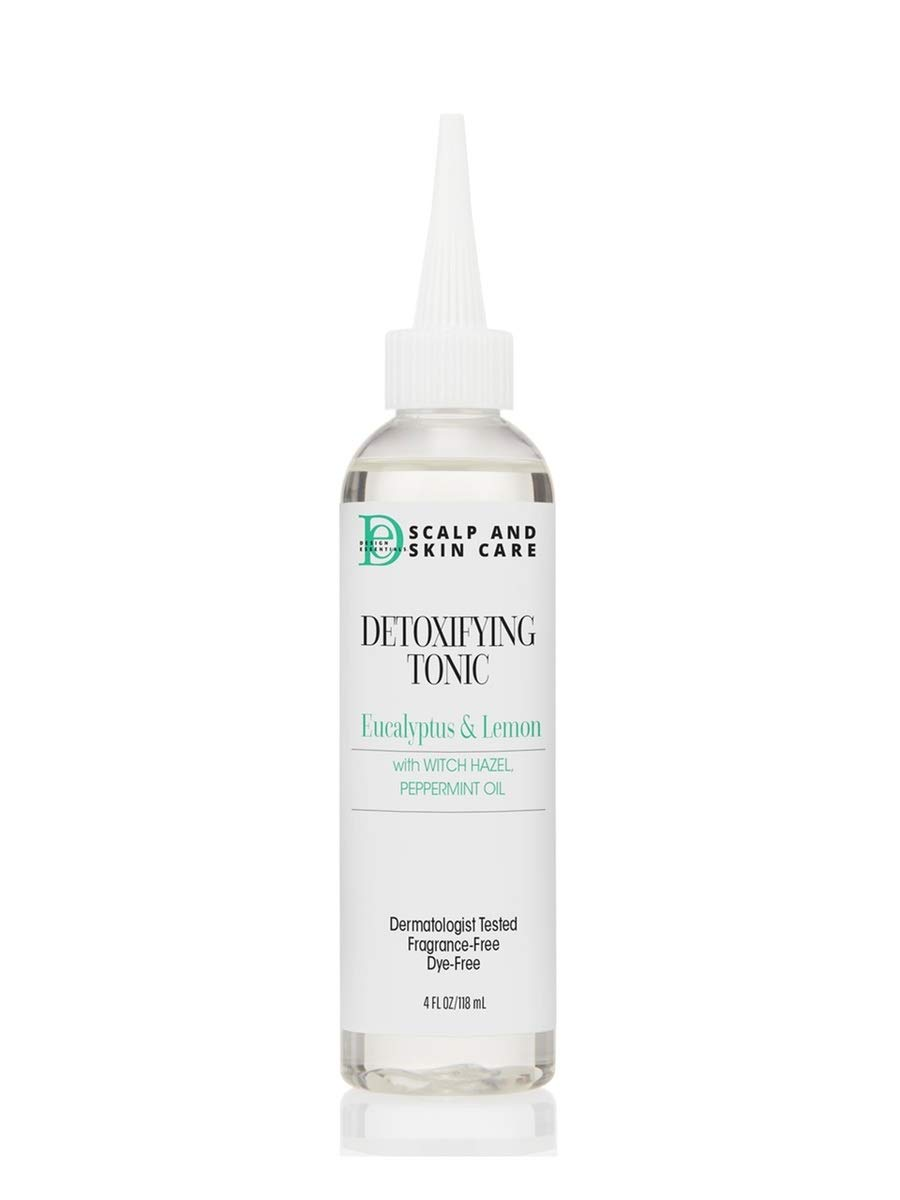Design Essentials Scalp & Skin Care Detoxifying Tonic infused w/Eucalyptus & Lemon, Witch Hazel And Peppermint Oil for Braids, Locs, Wigs/Weaves & Textured Styles - 4oz