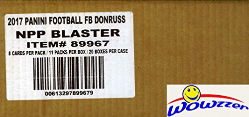 2017 Donruss NFL Football Factory Sealed 20 Box Blaster CASE with 20 ROOKIE MEMORABILIA Cards! Look for RC's & AUTO's of Deshaun Watson, Mitchell Trubisky, Leonard Fournette & More! WOWZZER! ()