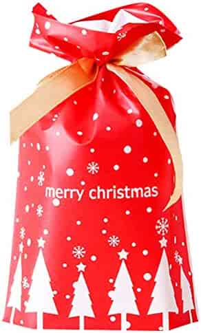 Gift Bags Drawstring Paty Favor Bags Candy Goodies Bags Food Storage Bags Gift Wrapping Package Treat Bags with Ribbon 50 PCS