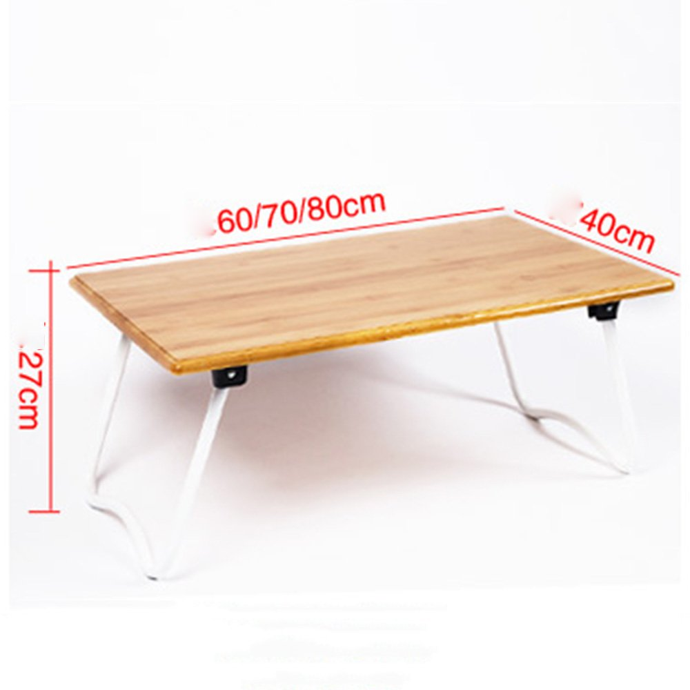Size : 60cm ZHIRONG Desk Laptop Lap Desk Bed Table Tray Foldable W Legs Portable Breakfast Serving Reading Tray For Bed Couch Floor Students Kids Wood Grain