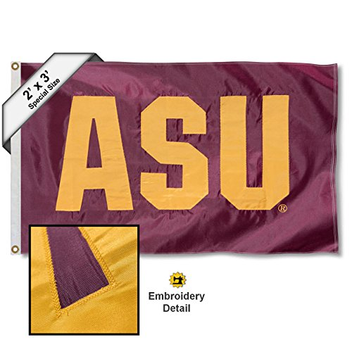Sun Devils Flag - Arizona State Sun Devils 2x3 Foot Embroidered Flag