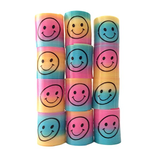24-mini-smiley-face-magic-slinky-rainbow-springs-colorful-assorted-childrens-toy-party-bag-favors
