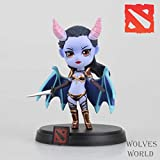 Hunter Wish Cute Q Dota 2 Game Queen of Pain Akasha Collection Handmade Limited Version Action Figures Model Toys with Gift Box-10cm