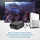 Simplebeam Projector GP90 Native 720p WXGA Video LCD 3200 Lumens LED Efficiency Projectors 1080p Full HD for Home Cinema/Game/TV Show/Camping/Outdoor Movie/Birthday Party(Black)