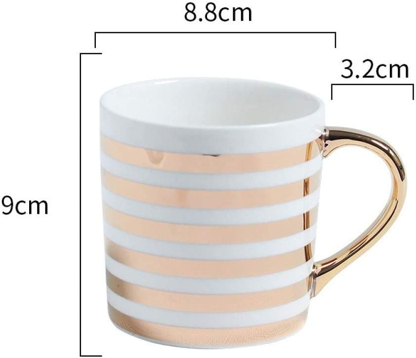 Sgzby Cup Drawing Gold Ceramic Cup Creative Business Mug Art Small Fresh Coffee Cup Amazon Co Uk Kitchen Home