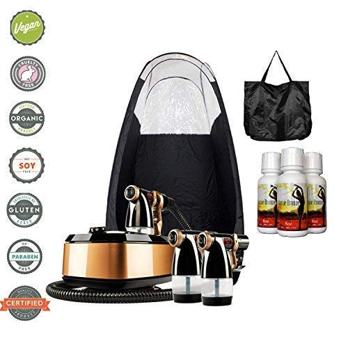 MaxiMist Allure Xena HVLP Spray Tanning System with Pop Up Tan Tent Black ()