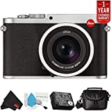 Leica Q (Typ 116) 24.2 MP Digital Camera (Silver Anodized) 19022 Bundle with Carrying Case + 1 Year Extended Warranty