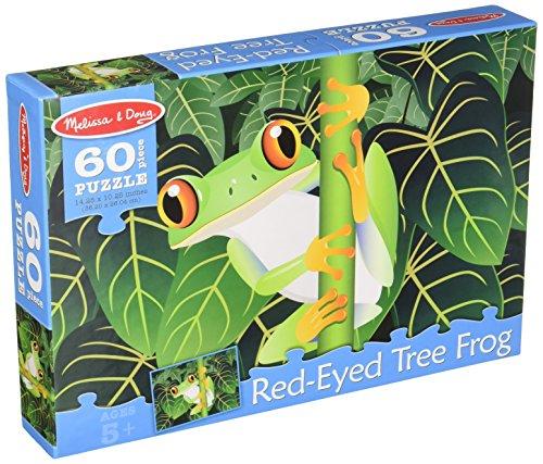 Orange Tree Frog - Melissa & Doug Red-Eyed Tree Frog Jigsaw Puzzle (60 pcs)