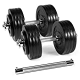 Yes4All Adjustable Dumbbells - 190 lb Dumbbell Weights with Dumbbell Connector