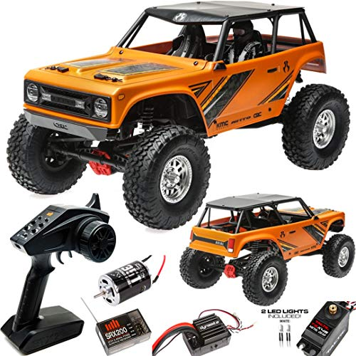 Axial Wraith 1.9 1/10 Scale Electric 4WD RTR RC Rock Crawler with 2.4GHz Tx/Rx System, Orange