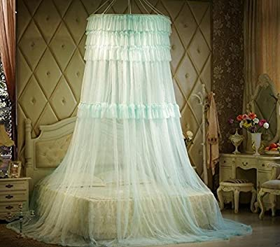 Triple Lace Ruffle Princess Bed Canopy
