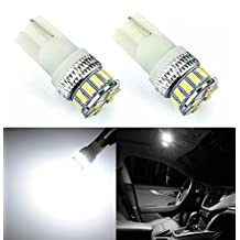 JDM ASTAR Extremely Bright Canbus Error Free 3014 Chipsets 194 168 2825 W5W T10 New Style LED Bulbs,Xenon White